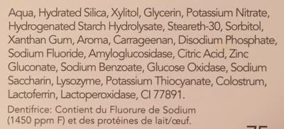 Zendium Sensibilité - Ingredients