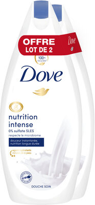 Dove Gel Douche Nutrition Intense 400ml Lot de 2 - Produit - fr