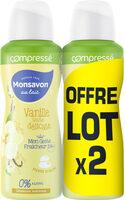 Monsavon Déodorant Femme Anti Transpirant Lait & Fleur de Vanille Compressé 100ml Lot de 2 - Product - fr