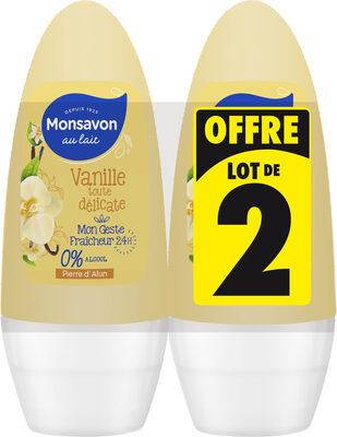 Monsavon Déodorant Femme Bille Pierre d'Alun & Fleur de Vanille 50ml Lot de 2 - Product - fr