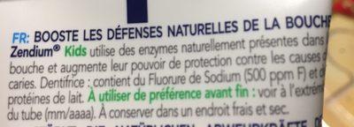 Zendium - Ingredients - fr