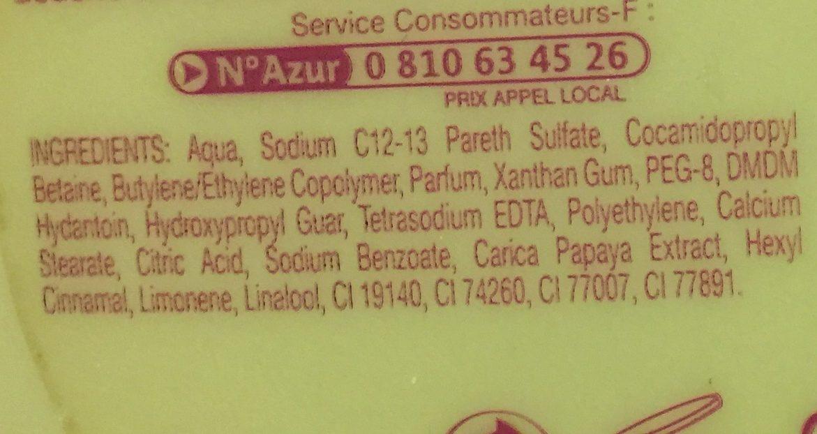 Douchegel Tahiti 250ML Perle De Soin Papaya - Ingredients - fr
