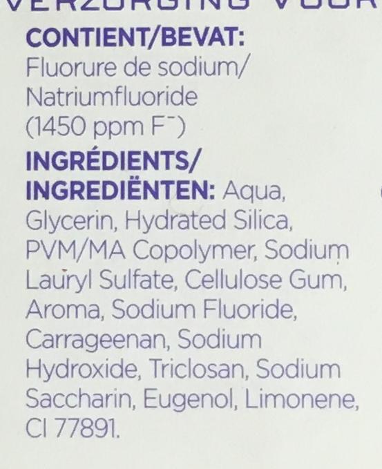 Total Pro-Soin Gencives - Ingredients