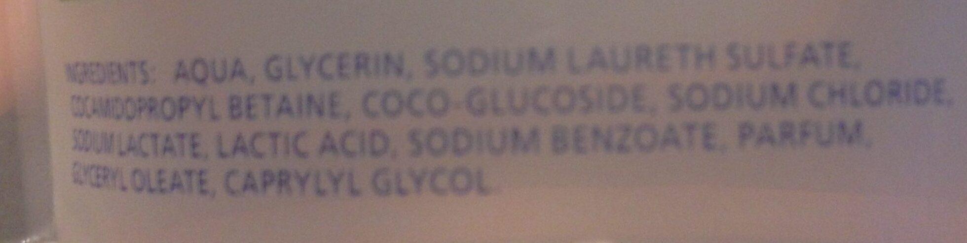 Gel douche - Ingredients - fr