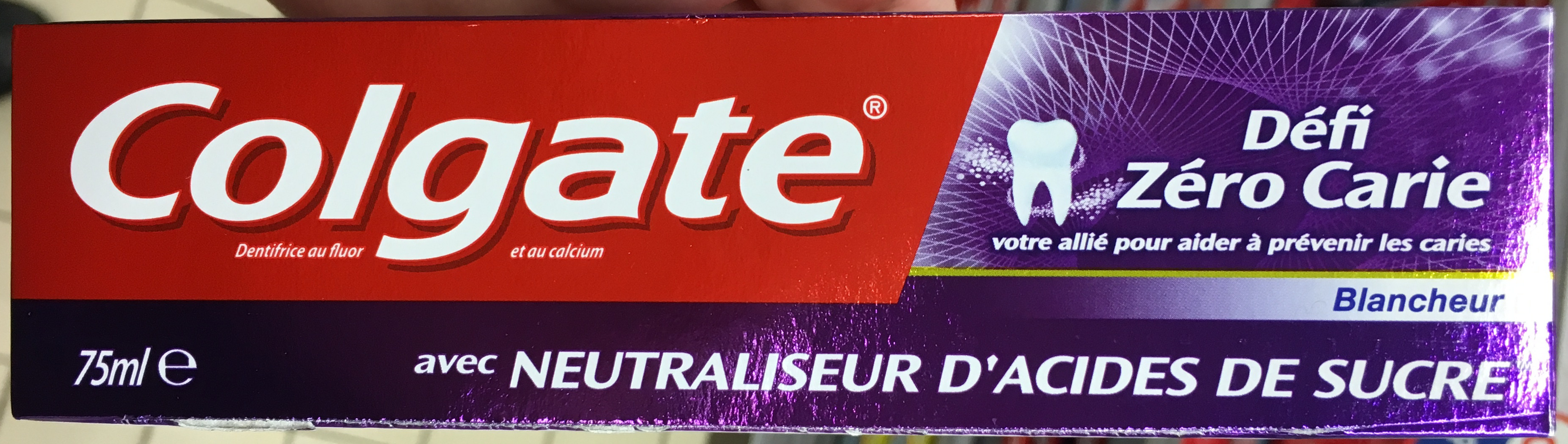 Défi Zéro Carie Blancheur avec neutraliseur d'acides de sucre - Product