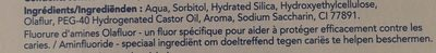 Dentifrice sensitive au fluor d'amines olafluor - Ingredients
