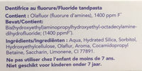 Sensitive blancheur - Ingredients - fr
