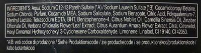 Palmolive Men Sensaçao do Brasil Lime Shot - Ingredients