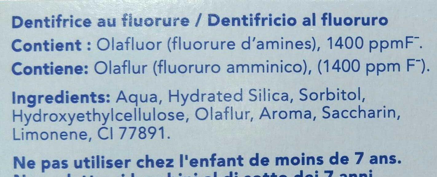 Dentifrice auti-caries - Ingrédients - fr