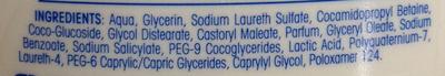 AtopiDerm douche crème peaux sèches, réactives à atopiques - Ingredients