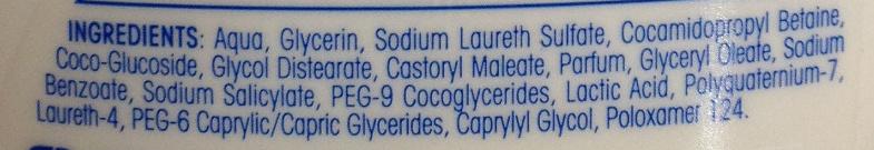 AtopiDerm douche crème peaux sèches, réactives à atopiques - Ingrédients - fr