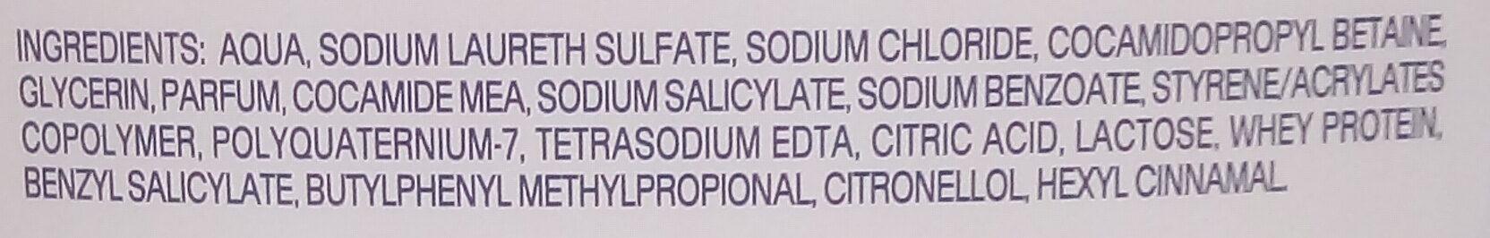GEL DOUCHE CREME - Ingredients