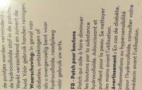 Parche Anti Acne 36 Piezas Hidrocoloide Y Hipoalergénico - Ingrédients - fr