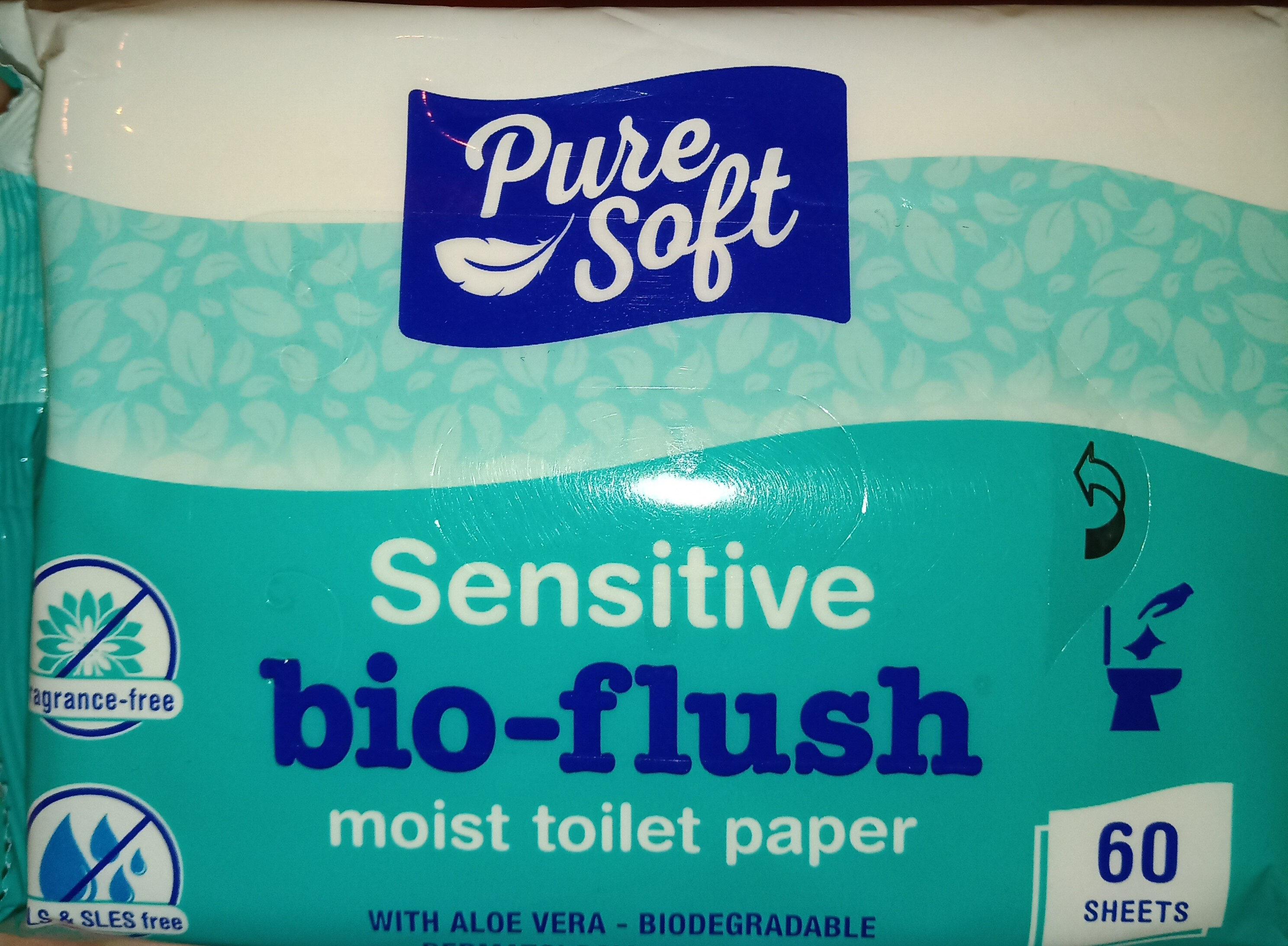 sensitive bio-flush moist toilet paper - Product - en