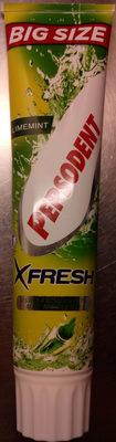 Pepsodent X-Fresh med munskölj Limemint Big Size - Product