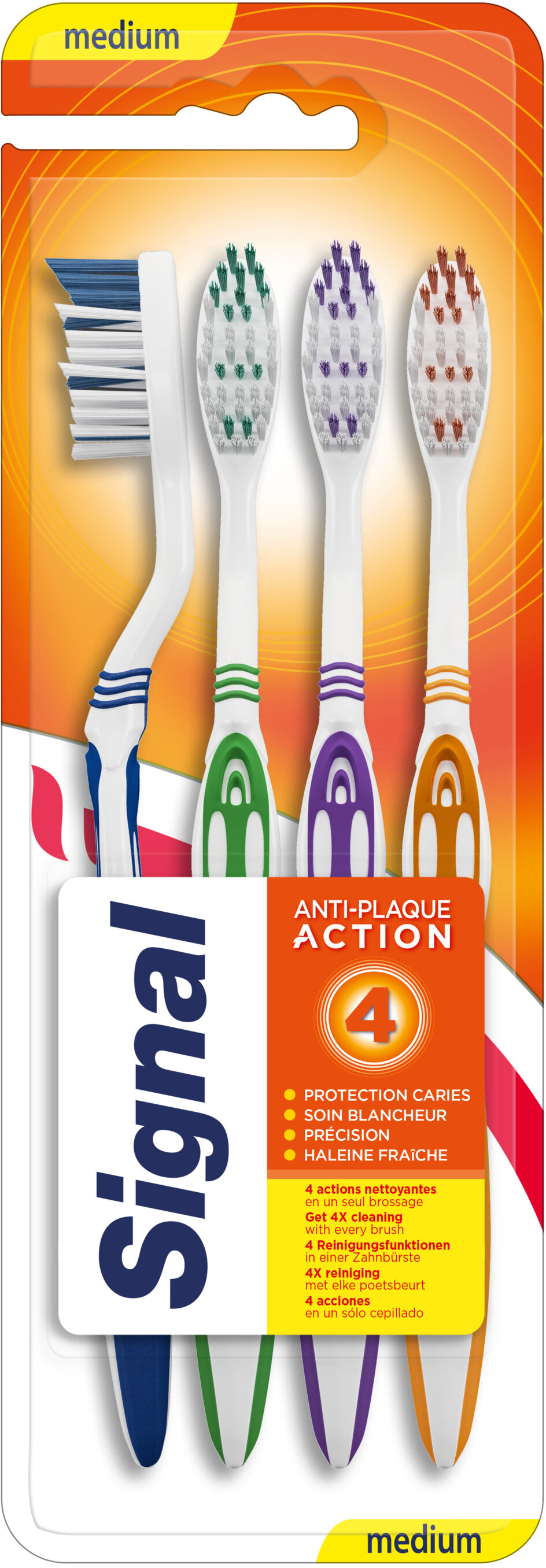 Signal Brosse à Dents 4 Actions Medium x4 - Product - fr