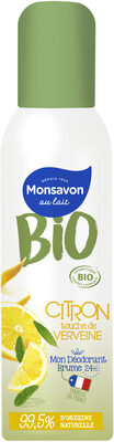 Monsavon Bio Déodorant Femme Brume Citron Touche de Verveine - Product - fr