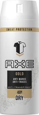 AXE Gold Déodorant Homme Spray Antibactérien Dry Anti-Traces Protection 48H - Produit - fr