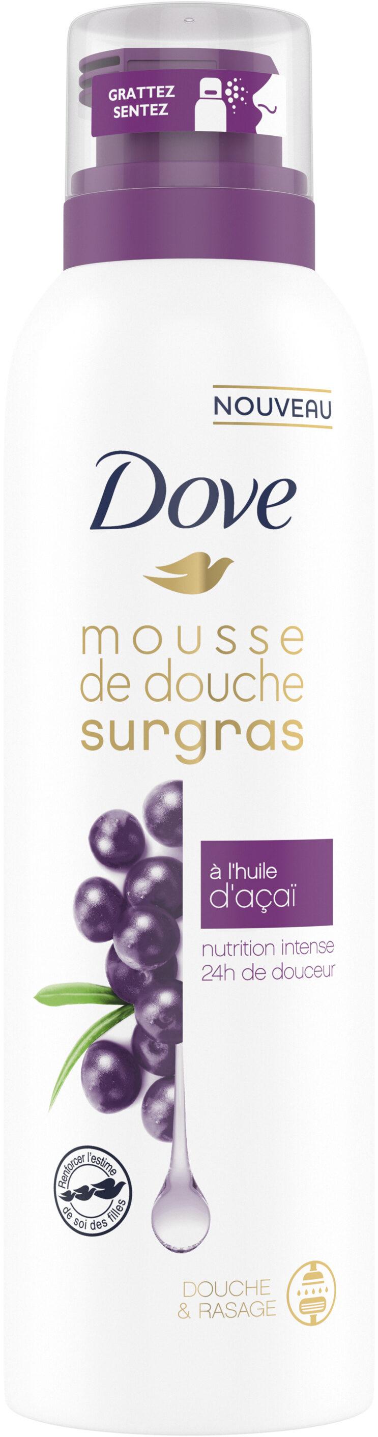 Dove Surgras Gel Douche Mousse Infusée à l'Huile d'Açaï 24H de Douceur - Product - fr