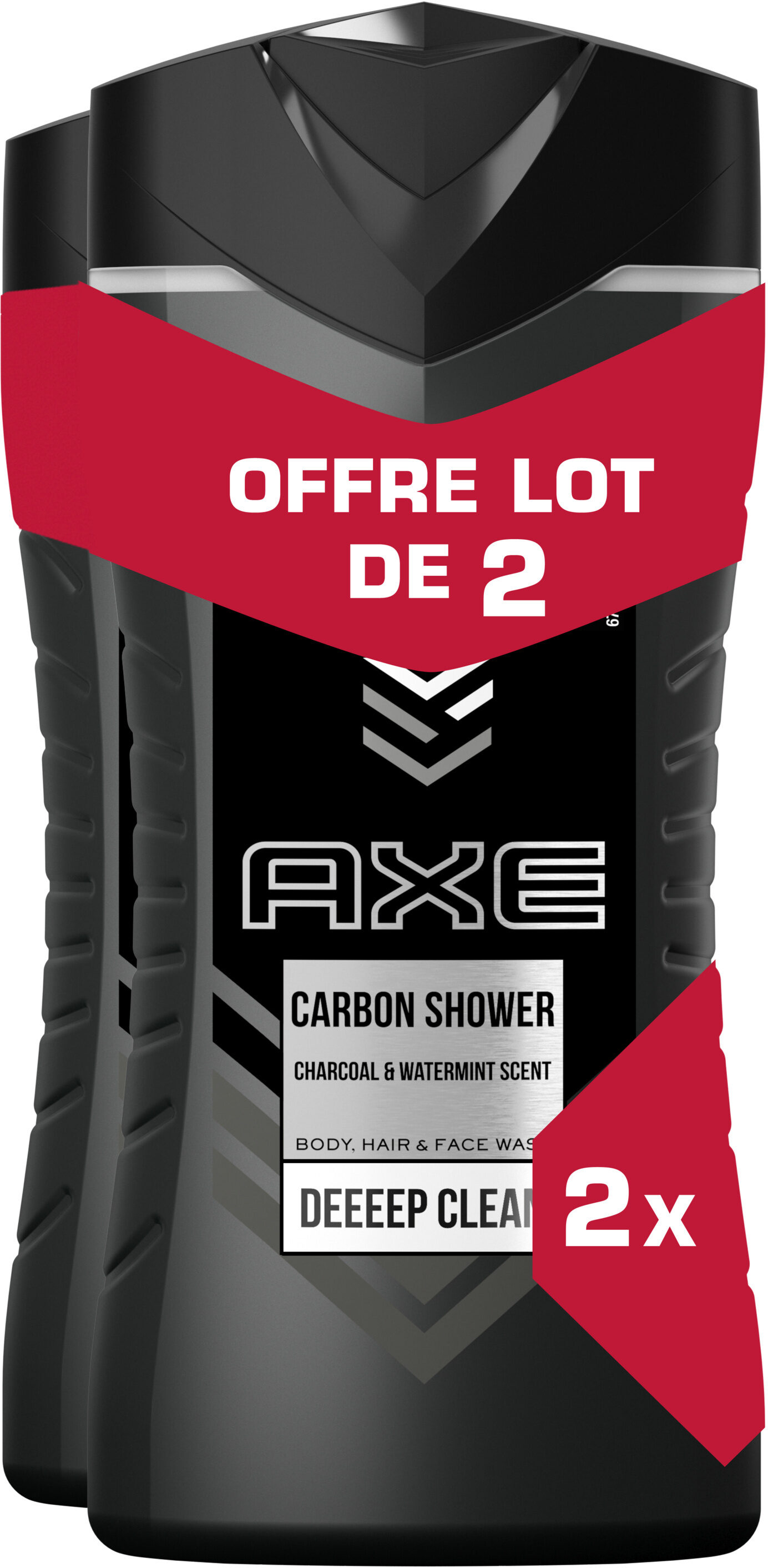 AXE Gel Douche Homme Carbon 3en1 Lot 2x250ml - Product - fr