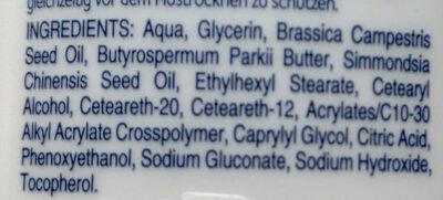 Sensitive Body Lotion - Ingredients - de