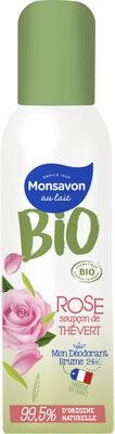 Monsavon Déodorant Femme Brume Senteur Rose soupçon de Thé Vert - Product - fr