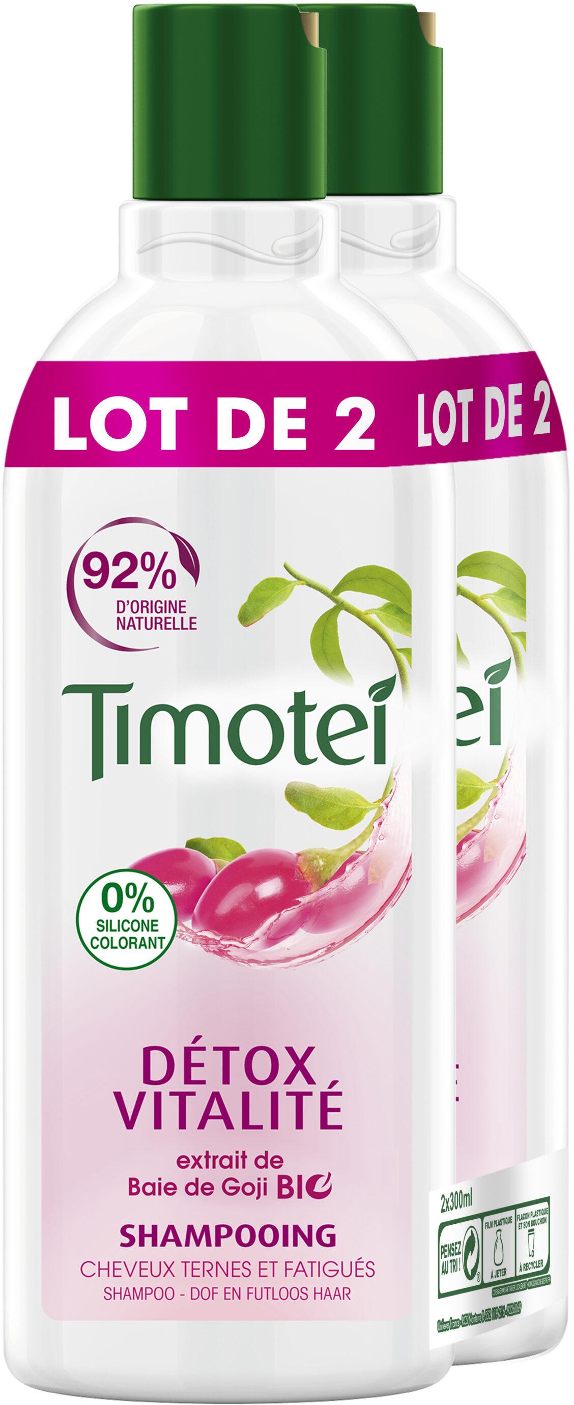 Timotei Détox Shampooing Femme aux extraits de Baie de Goji Cheveux Ternes Lot - Product - fr