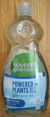 Seventh Generation Free & Clear Hand Dish Wash - Product - sv
