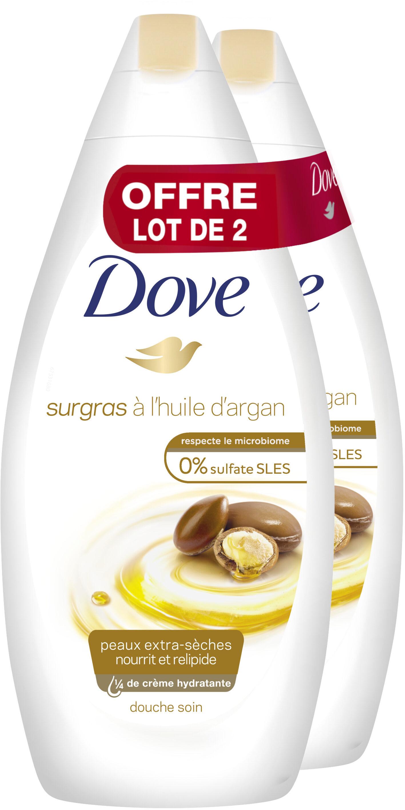 Dove Gel Douche Soin Infusée à l'Huile d'Argan Lot 2x400ML - Product - fr