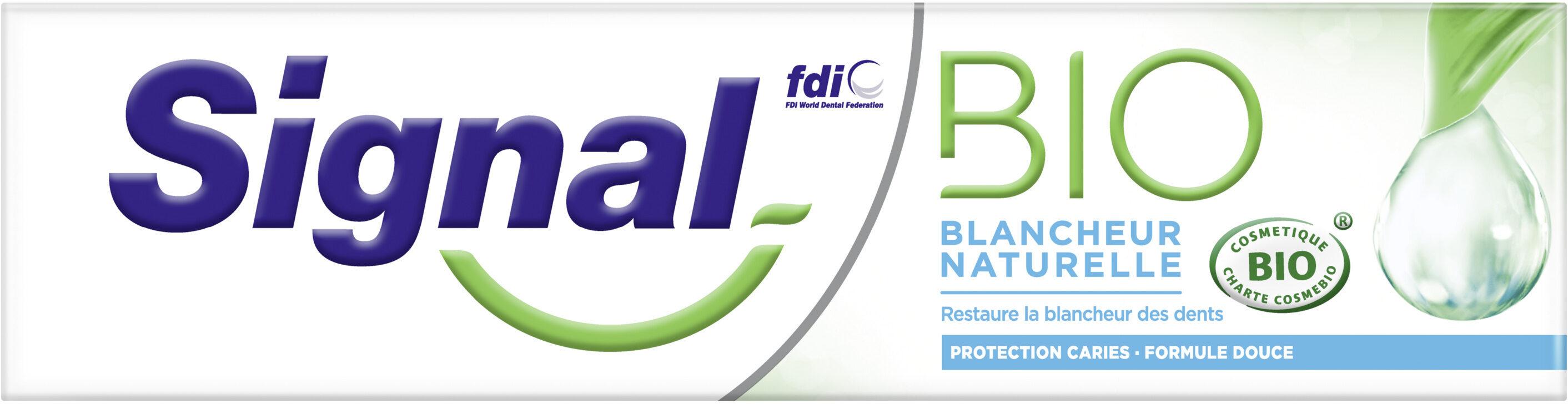 Signal Dentifrice Bio Blancheur Naturelle - Product - fr