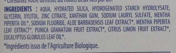 Bio Blancheur naturelle - Ingredients - fr