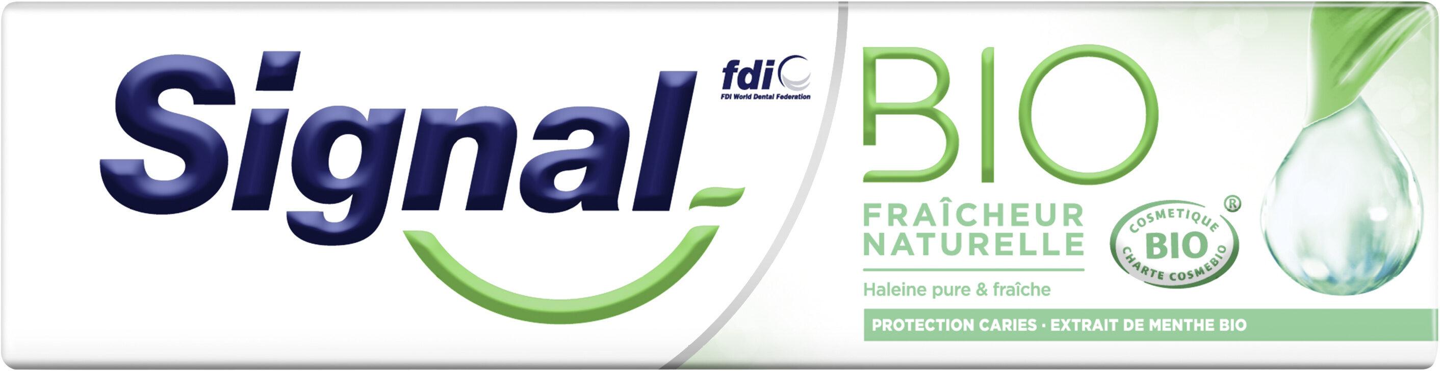 Signal Dentifrice Bio Fraîcheur Naturelle - Produit - fr