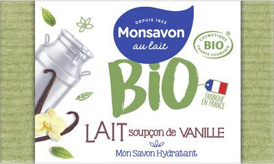 Monsavon Savon Pain de Toilette Hydratant Lait Vanille Cosmebio x1 - Product - fr