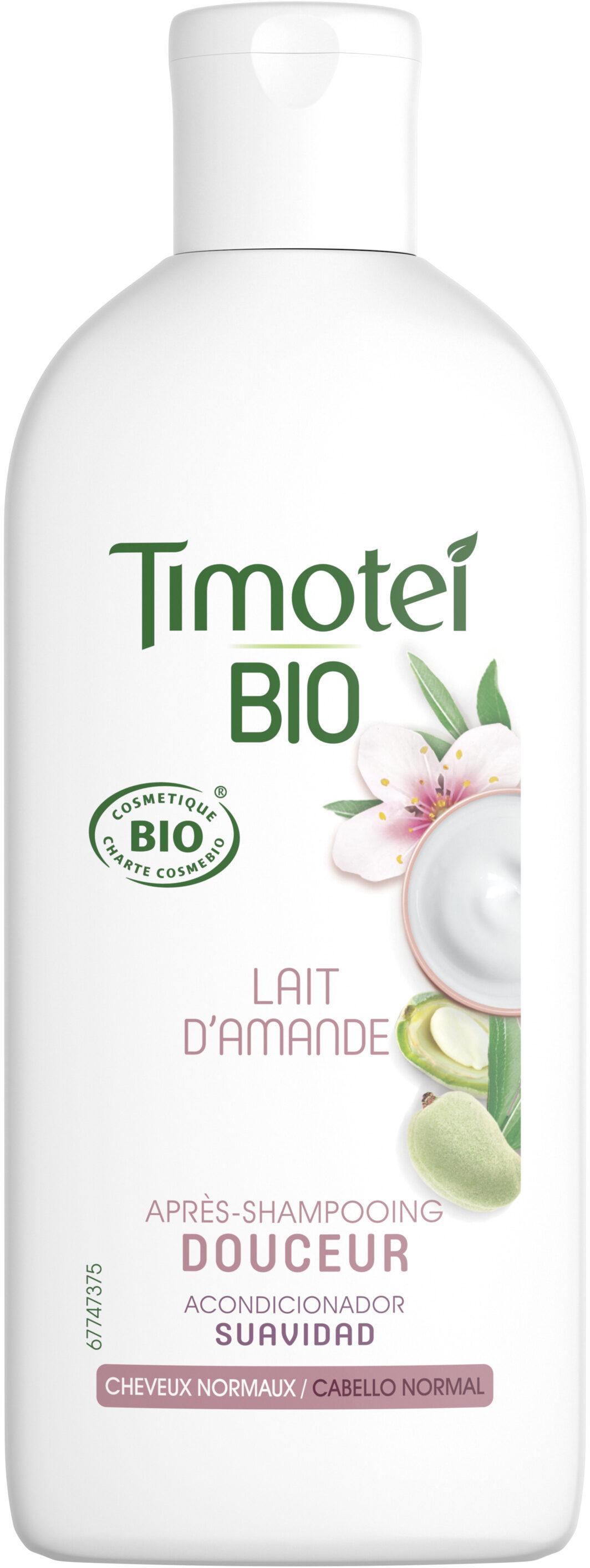 Timotei Bio Après-Shampooing Femme Douceur infusé au Lait d'Amande Douce Cheveux Normaux - Product - fr