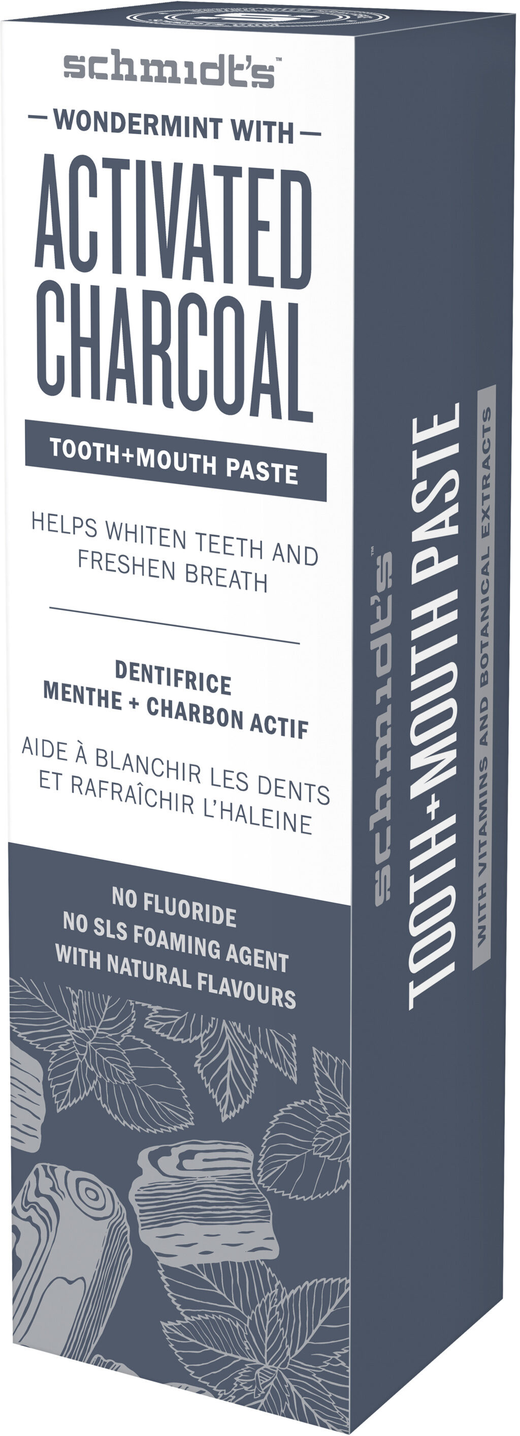 Schmidt's Dentifrice Menthe Intense au Charbon Actif - Product - fr