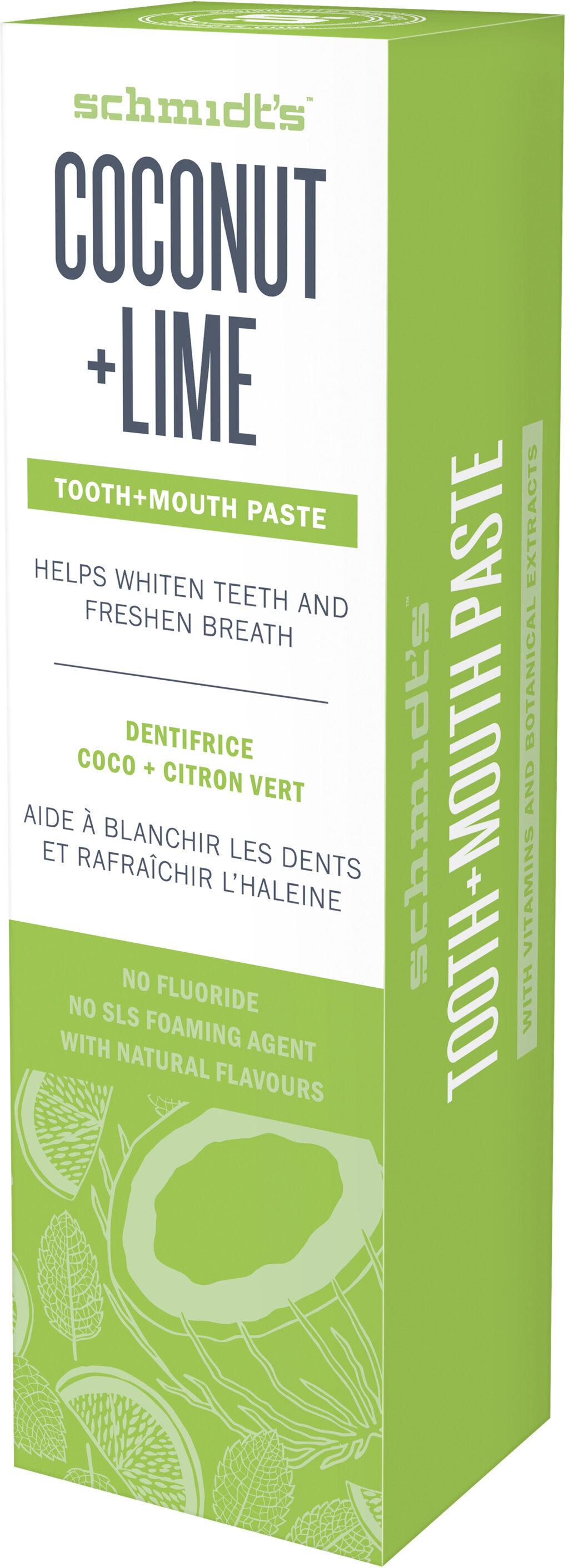 Schmidt's Dentifrice Noix de Coco & Citron Vert - Product - fr