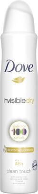 Dove Anti-Transpirant Femme Spray Invisible Dry - Produit - fr