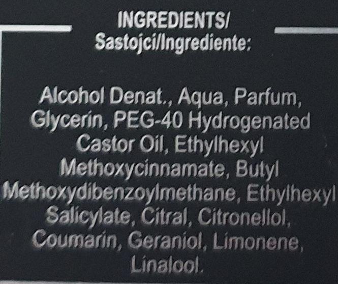 Axe aftershave dark temptation - Ingredients - de