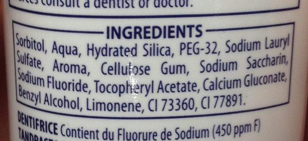 Signal Kids 2-6 ans - Goût fraise - Ingredients