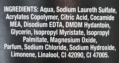 Gel douche Lendemain Difficile 2 en 1 Corps & Cheveux Revigorant XL - Ingredients