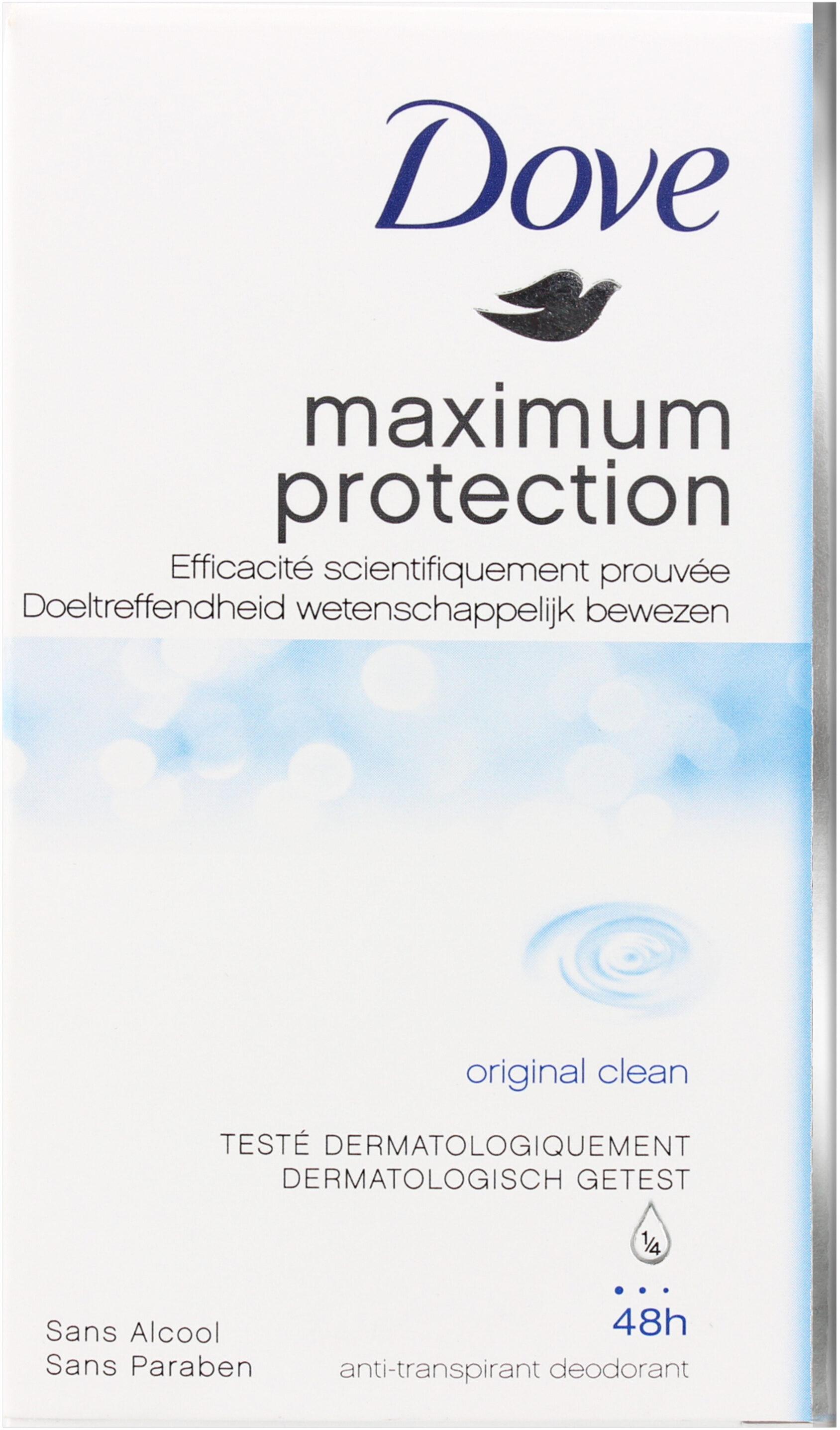 Dove Déodorant Femme Stick Antibactérien Maximum Protection Original - Product - fr