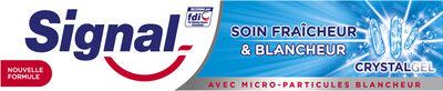 Signal Dentifrice Soin Fraîcheur & Blancheur Crystal Gel - Product - fr