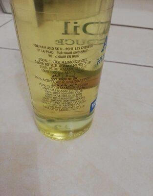 100% Pure Almond Oile - Huile d'Amande Douce - Ingredients - en
