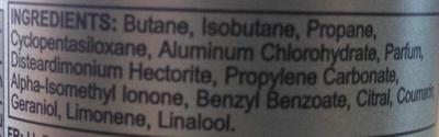 Provocation Axe dry - Ingredients - en