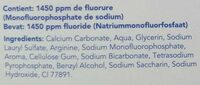 Dentifrice anti-caries - Ingredients