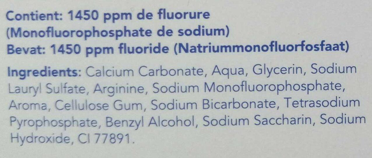 Dentifrice anti-caries - Ingrédients
