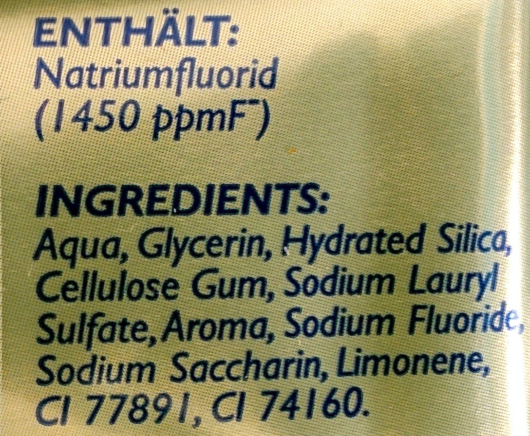 Colgate Ultra Weiß Komplett 8 - Ingredients