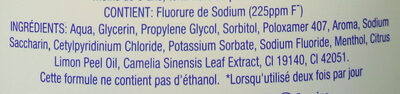 Colgate Plax thé & citron - Ingredients - fr
