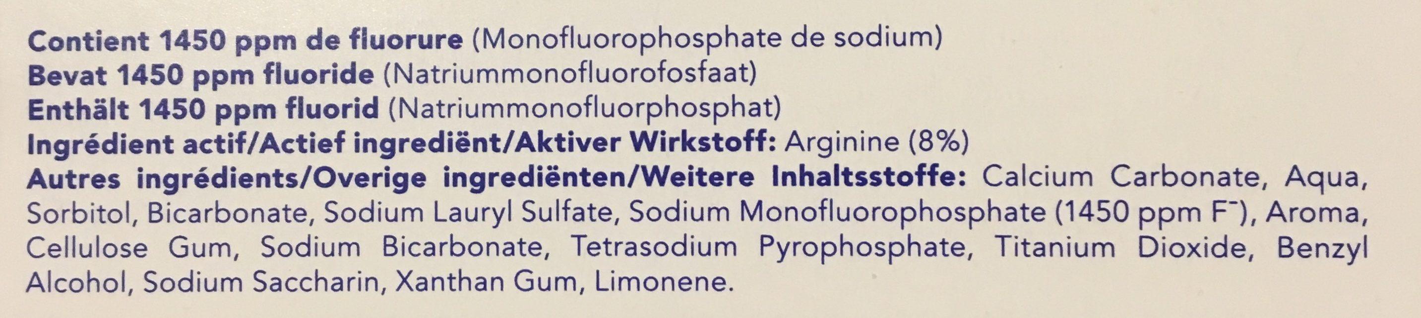 Elmex Sensitive Professional Dentifrice - Ingredients - fr