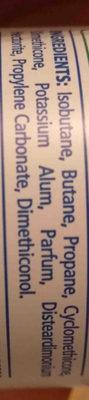 Sanex natural proyect desodorante - Ingredients